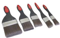 "High Quality Paint Brushes with Soft Grip PVC Handle Size Option:1"", 1.5"", 2"", 2.5"", 4"""