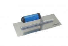 Stainless Steel Pro Flooring Plastering Trowel with V-Notch Teeth 280mmL x 125mmW
